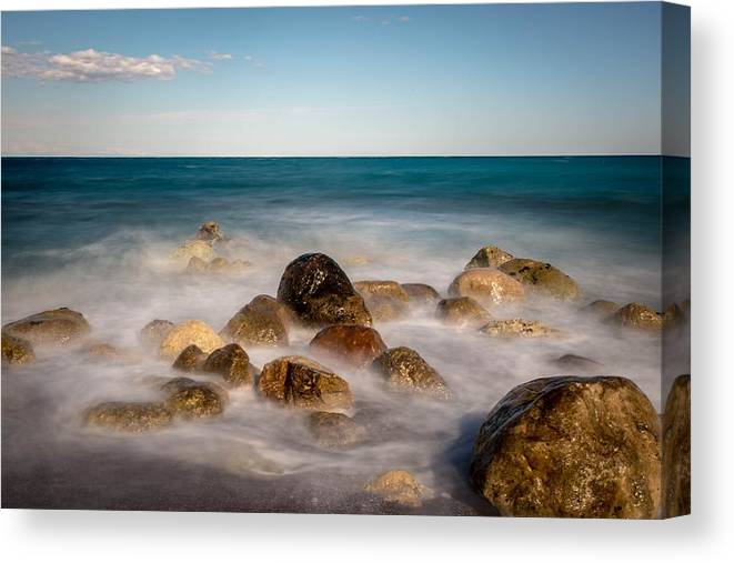 Ripples Canvas Print featuring the photograph Sea by FL collection