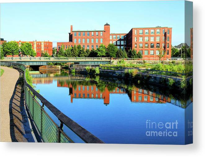 Lowell Canvas Print featuring the photograph Lowell, Massachusetts by Denis Tangney Jr