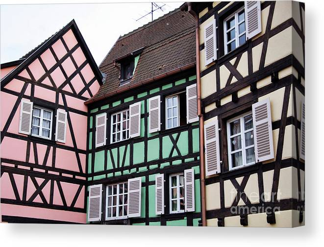 Colmar Canvas Print featuring the photograph Colmar by LS Photography