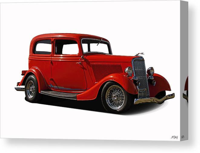 1934 Canvas Print featuring the photograph 1934 Ford 2 Door Sedan by Nick Gray