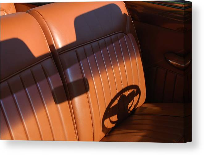 Car Canvas Print featuring the photograph 1950 Oldsmobile Rocket 88 Convertible Interior by Jill Reger