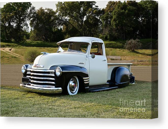 1951 Chevrolet 3100 Pickup Lowrider Canvas Print