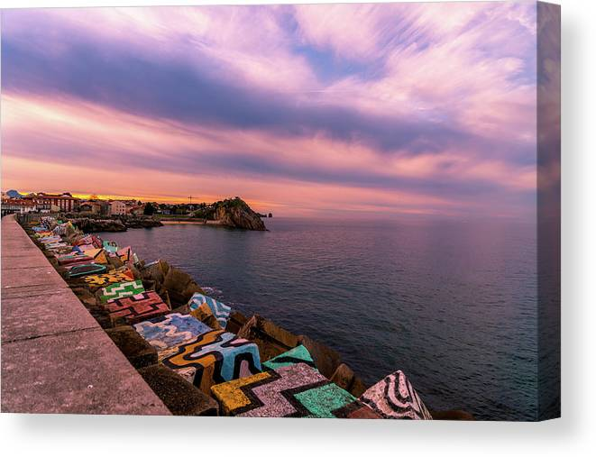 Spain Canvas Print featuring the photograph A Lot To See And Do by Ric Schafer