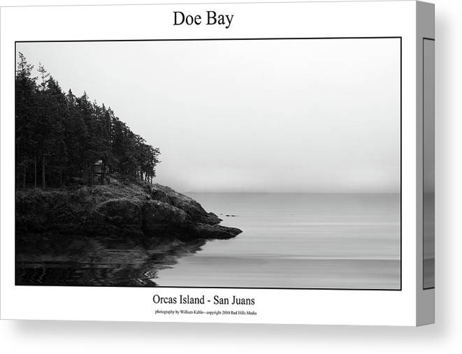 San Juan Photographs Canvas Print featuring the photograph Doe Bay by William Jones