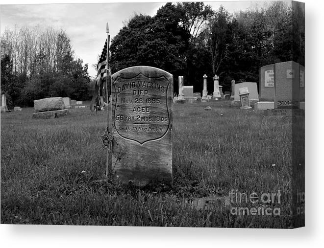 May Canvas Print featuring the photograph Odd Fellows Cemetery by Ben Schumin
