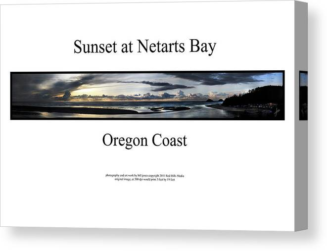 Oregon Coast Photographs Canvas Print featuring the photograph Sunset At Netarts Bay by William Jones