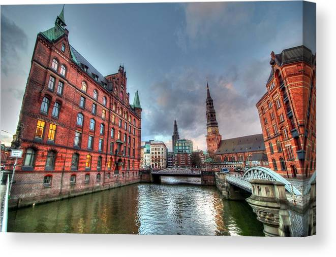 Hamburg Germany Canvas Print featuring the photograph Hamburg Germany by Paul James Bannerman