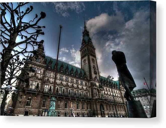 Hamburg Germany Canvas Print featuring the photograph Hamburg Germany by Paul James Bannerman