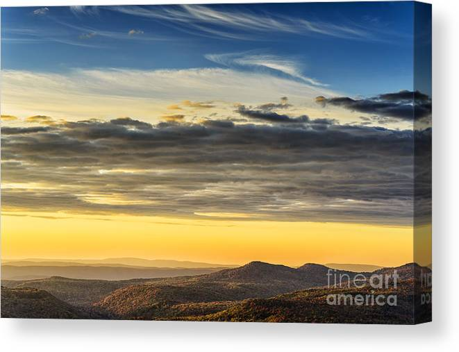 Sunrise Canvas Print featuring the photograph Allegheny Mountain Sunrise by Thomas R Fletcher