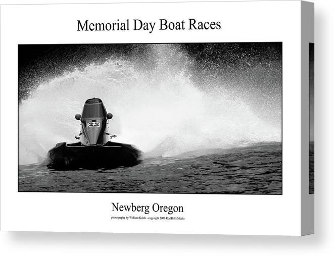 Portland Photographs Canvas Print featuring the photograph Memorial Day Boat Races by William Jones
