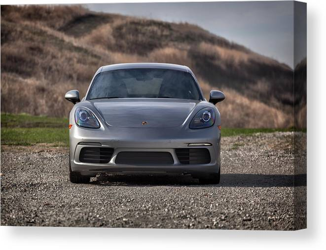 Cars Canvas Print featuring the photograph #porsche #718cayman S #print by ItzKirb Photography