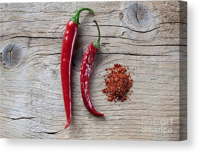 Chili Canvas Print featuring the photograph Red Chili Pepper by Nailia Schwarz