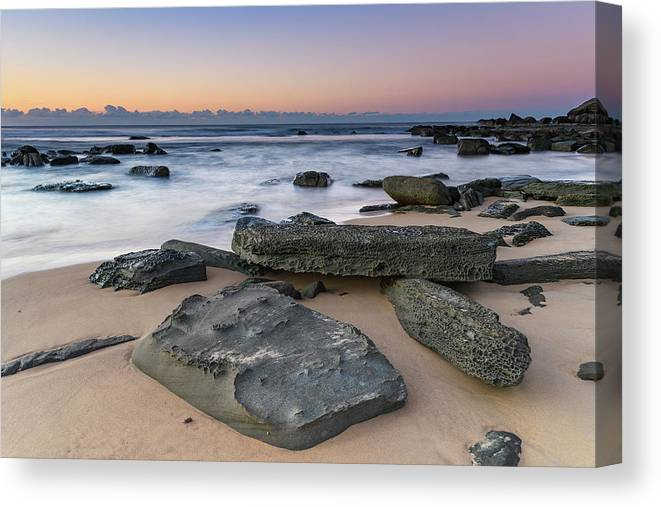 Australia Canvas Print featuring the photograph Sunrise And The Sea by Merrillie Redden
