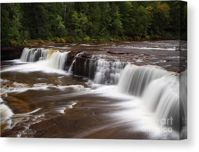 Michigan Upper Peninsula Canvas Print featuring the photograph Lower Tahquamenon Falls Area by Steve Javorsky