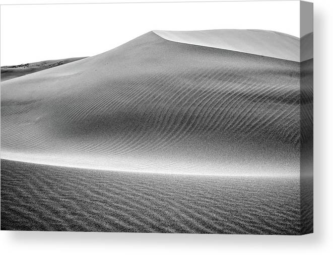 Air Canvas Print featuring the photograph Magnificent Sandy Waves On Dunes At Sunny Day by Oleg Yermolov