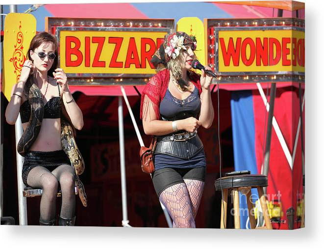 Sideshow Canvas Print featuring the photograph Sideshow Performer by Diane Falk