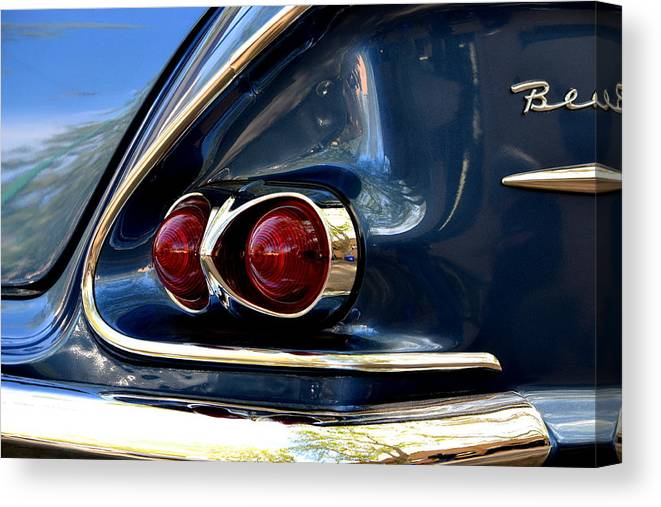 Canvas Print featuring the photograph 58 Bel Air Tail Light by Dean Ferreira