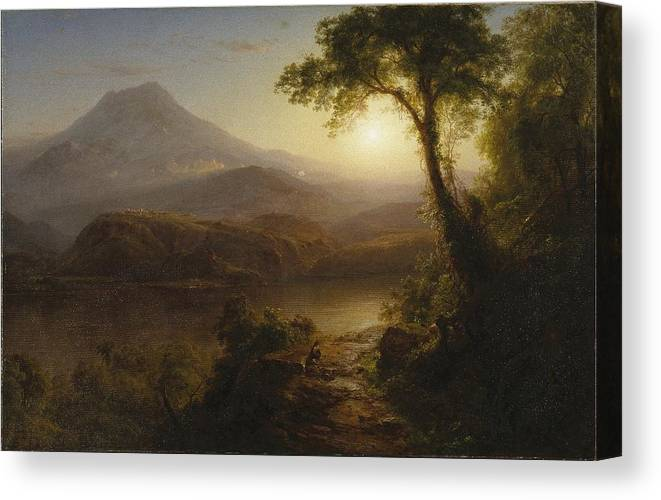 Frederic Edwin Church (american Canvas Print featuring the painting Tropical Scenery by Frederic Edwin