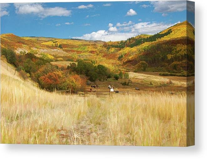 Fall Colors Canvas Print featuring the photograph 7797 Ranch Of Color by John Prichard