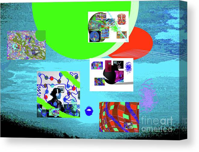 Walter Paul Bebirian Canvas Print featuring the digital art 8-7-2015babcdefghi by Walter Paul Bebirian