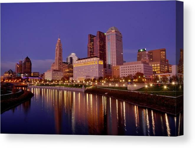 Columbus Canvas Print featuring the photograph Columbus, Ohio by David Kelso
