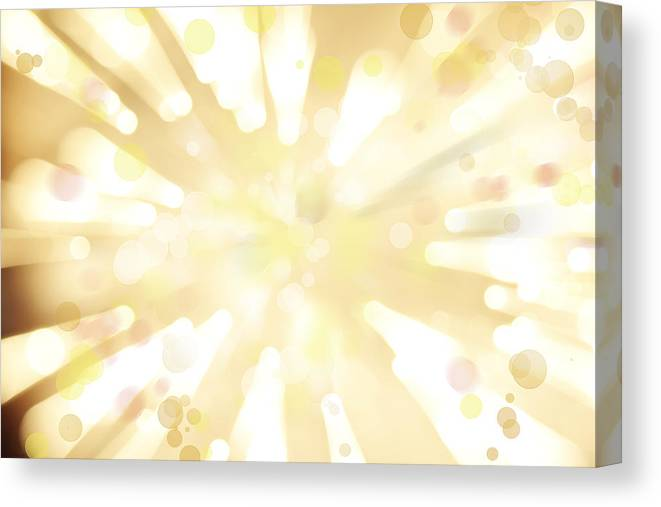 Big Bang Canvas Print featuring the digital art Explosive Background by Les Cunliffe