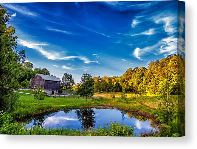 Pond Canvas Print featuring the photograph A Country Place by Steve Harrington