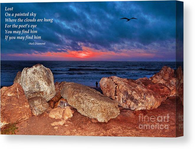 Sunset Canvas Print featuring the photograph A Painted Sky For The Poet's Eye by Jim Fitzpatrick