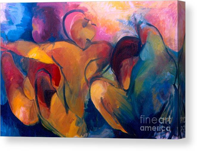 Oil Painting Canvas Print featuring the painting A Passion To Be Raised by Daun Soden-Greene