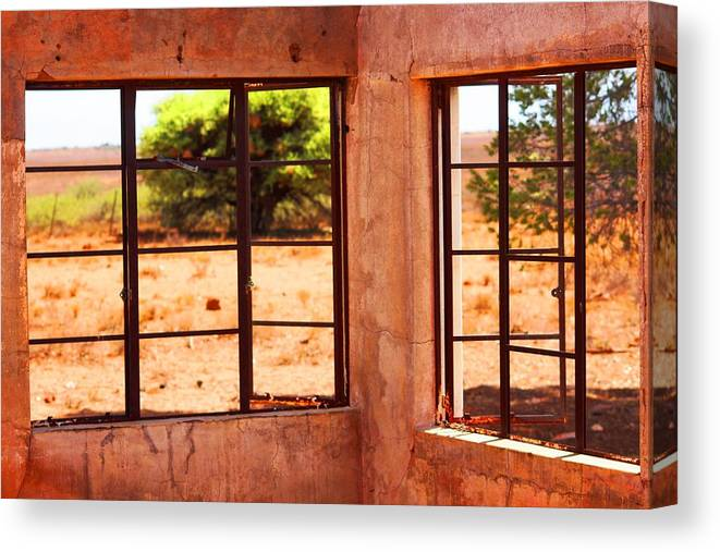 Broken Canvas Print featuring the photograph A View From An Abandoned House by Elton Oliver