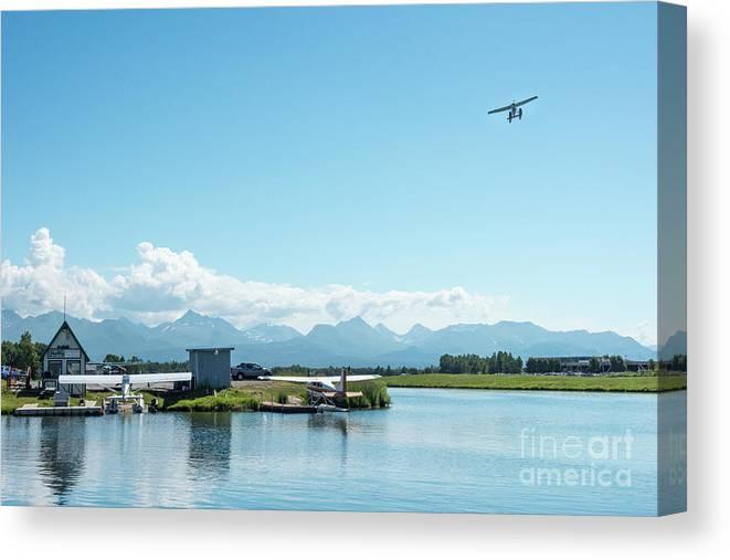 Alaska Canvas Print featuring the photograph Alaskan Seaplane Base by Paul Quinn