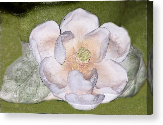 Flower Canvas Print featuring the digital art Alien Bloom by Chuck Shafer