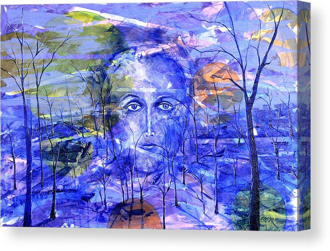 New Age Canvas Print featuring the painting All Roads Lead To You by Rollin Kocsis