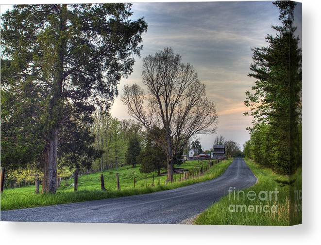 Virginia Canvas Print featuring the photograph Almost Home by Pete Hellmann