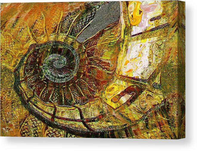 Ammonite Canvas Print featuring the painting Ammonite by Anne Weirich