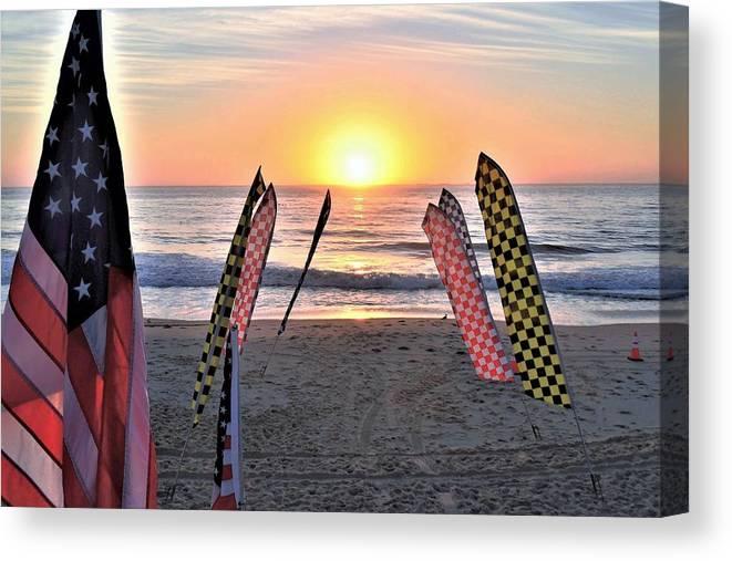Sunrise Canvas Print featuring the photograph An All-american Sunrise by Kim Bemis