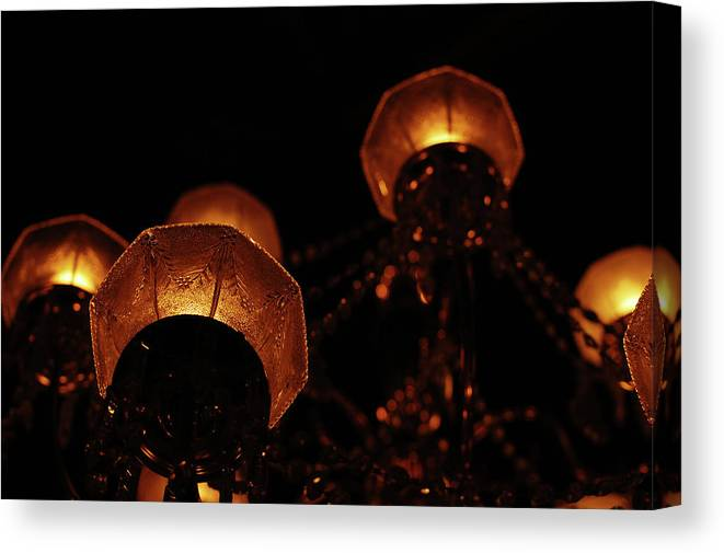 Chandelier Canvas Print featuring the photograph Antique Lighting by Jean Booth