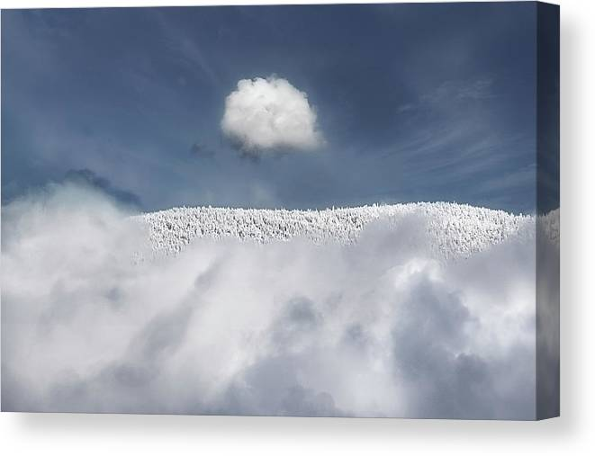 Mountain Canvas Print featuring the photograph Apex by John Poon