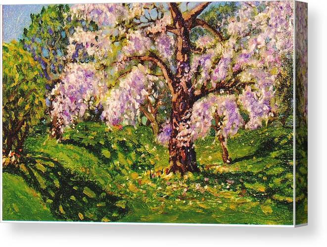 Scenic Canvas Print featuring the painting April Dream by Jonathan Carter