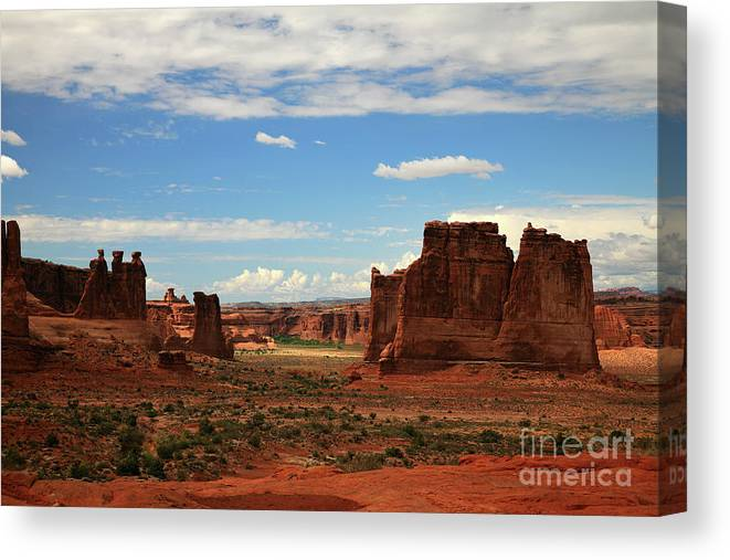 Three Gossips Canvas Print featuring the photograph Arches by Timothy Johnson
