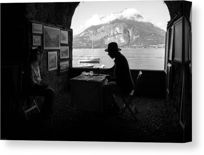 Alfio Finocchiaro Canvas Print featuring the photograph Artista Di Strada by Alfio Finocchiaro