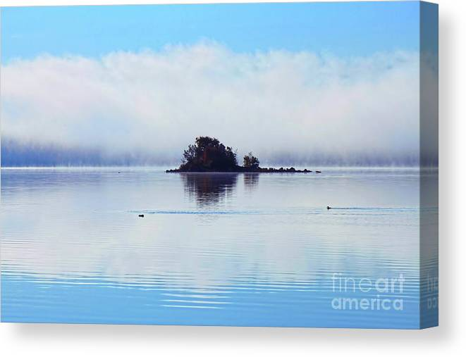 Photography Canvas Print featuring the photograph As The Fog Clears by Cathy Beharriell