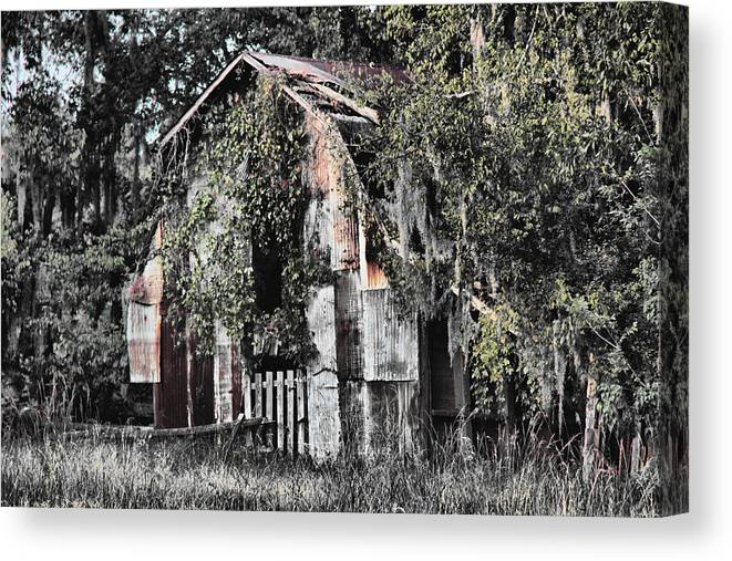 Barn Canvas Print featuring the photograph At The Barn by Greg Sharpe