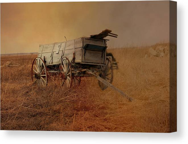 Theresa Campbell Canvas Print featuring the photograph At Trails End by Theresa Campbell