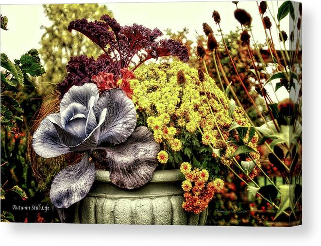 Vase Canvas Print featuring the photograph Autumn Still Life by Thomas Woolworth