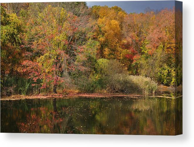 Fall Canvas Print featuring the photograph Autumn Tranquility 1 by Frank Mari