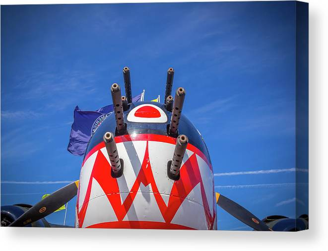 Sky Canvas Print featuring the photograph B26 Intruder by Sid Karic