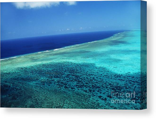 Above Canvas Print featuring the photograph Babeldoap Islands by Allan Seiden - Printscapes