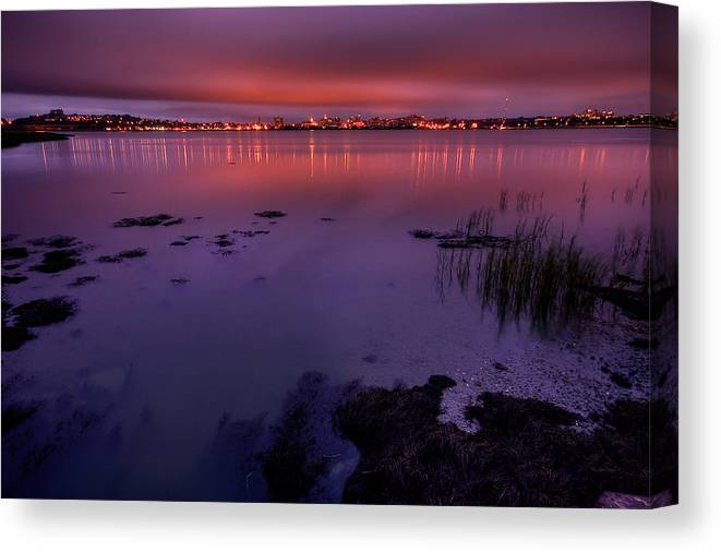 Landscape Canvas Print featuring the photograph Back Cove Hdr by Charlie Widdis