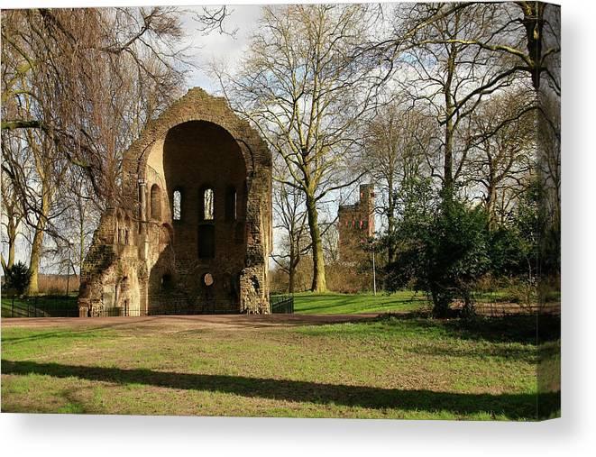 Nijmegen Canvas Print featuring the photograph Barbarossa Ruin And Belvedere by Erin Larcher